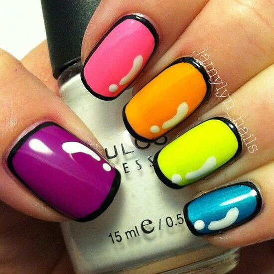 neon-colors-nail-art-design-with-black-outline-design