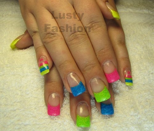neon-french-tip-nail-design