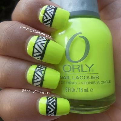 neon-green-tribal-nail-art-design
