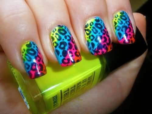 neon-leopard-print-nail-art1