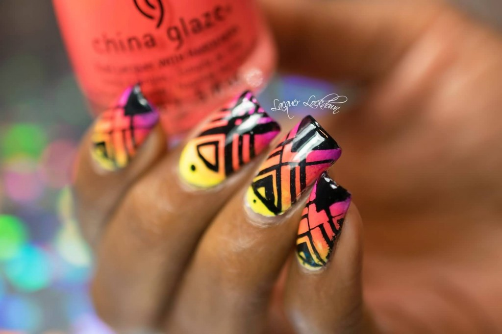 neon-tribal-nail-art-design
