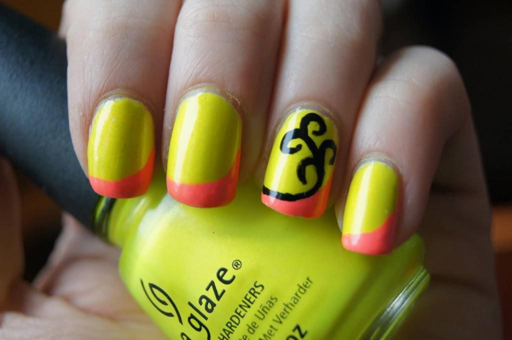 neon-yellow-and-orange-tip-nail-art