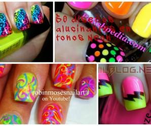 30 diseños alucinantes con esmaltes neon
