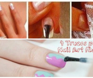4 ideas geniales para Nail art de emergencia