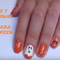 Arañas y fantasmas en las uñas para Halloween