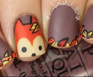 Autumn Fox Nail Art Tutorial