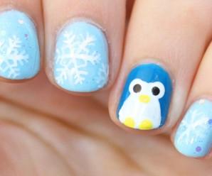Diseño glacial de uñas super fácil