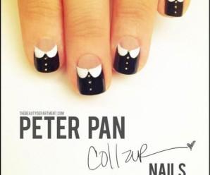 Un cuello de Peter pan muy elegante en tus uñas