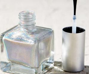 Nail art de diamante para año nuevo