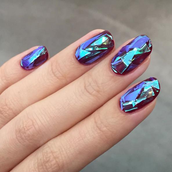 Glass nails, uñas cristalizadas 2