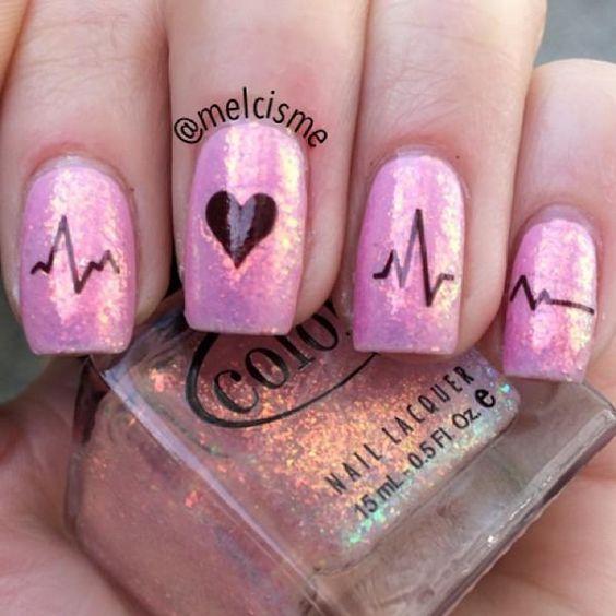 Ideas faciles y modernas para decorar uñas en San Valentin 2017 2