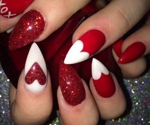Ideas fáciles y modernas para decorar uñas en San Valentín 2017