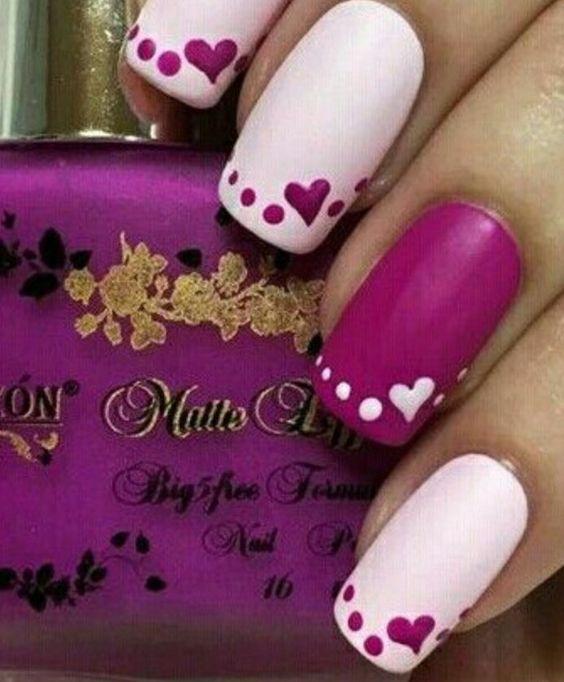 Ideas faciles y modernas para decorar uñas en San Valentin 2017 5