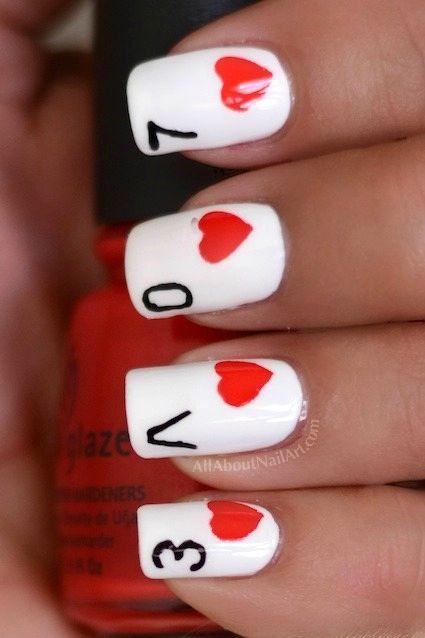 Ideas faciles y modernas para decorar uñas en San Valentin 2017 6