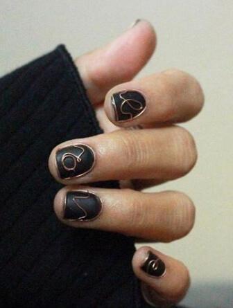 Wire Nails uñas decoradas con alambre 2
