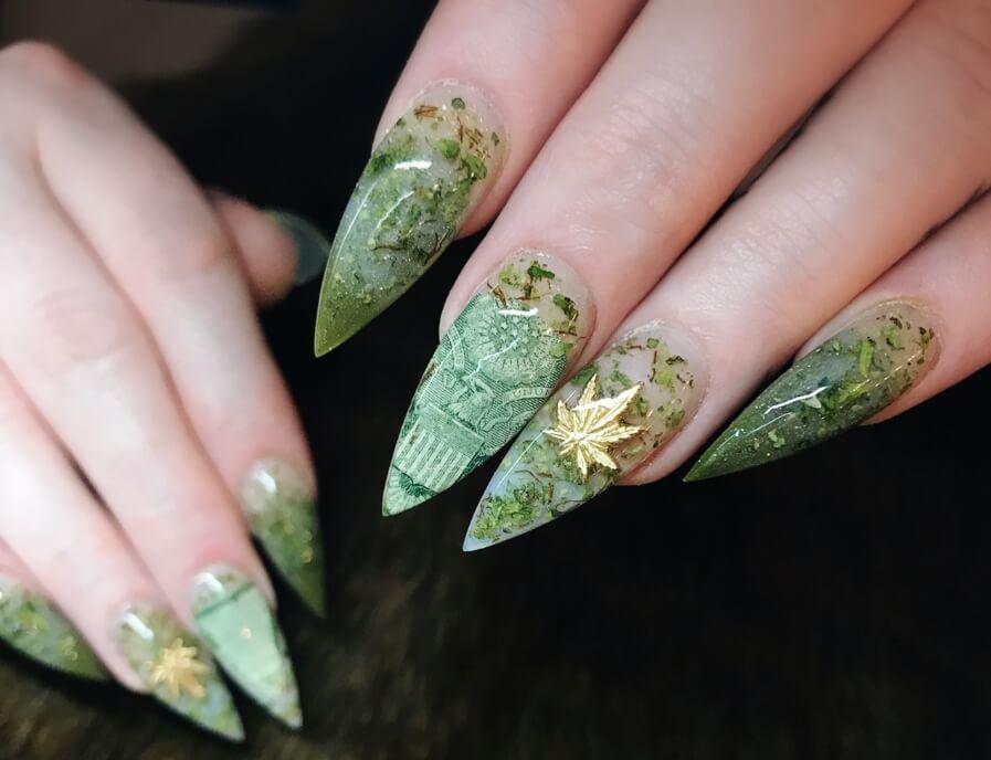 WeedNails: Uñas Con Hojas De Marihuana Reales