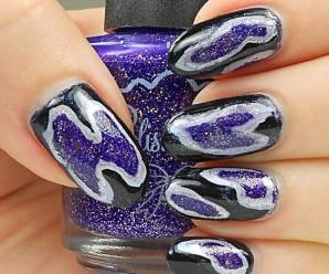 Geode nails: uñas inspiradas en diamantes y gemas
