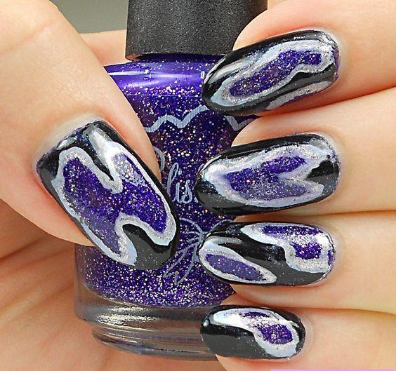 Geode nails uñas inspiradas en diamantes y gemas