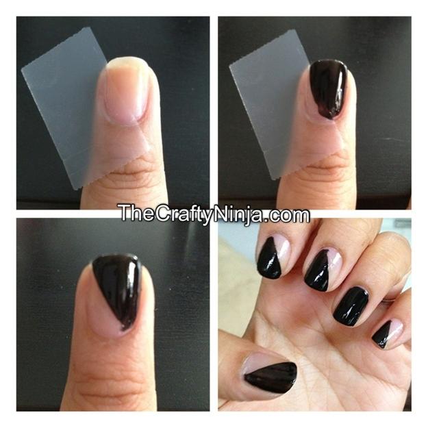 Ideas para decorar uñas con cinta adhesiva Muy facil 3