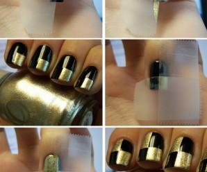 Ideas para decorar uñas con cinta adhesiva ¡Muy fácil!