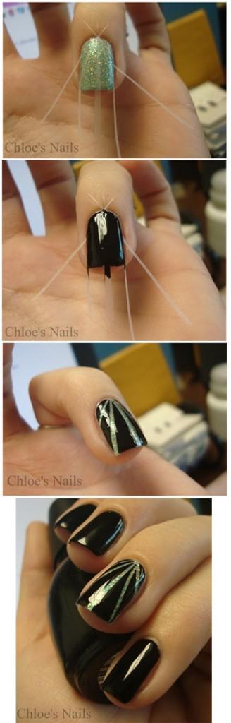 Ideas para decorar uñas con cinta adhesiva Muy facil 5