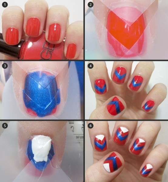 Ideas para decorar uñas con cinta adhesiva Muy facil 7