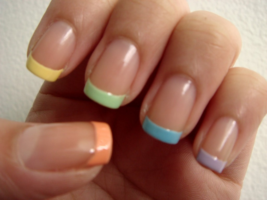 Ideas de uñas multicolores 5