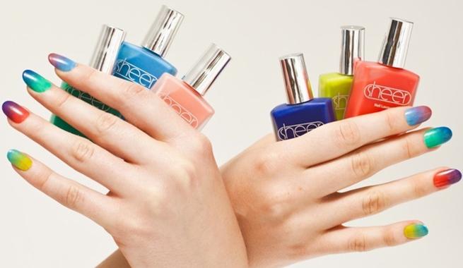 Uñas Multicolores O Uñas Arco Iris Decoración De Uñas